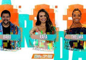 Enquete mostra quem deve deixar BBB no último paredão: Babu, Rafa ou Thelma?
