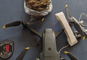 Drone que carregava maconha é capturado sobrevoando presídio em João Pessoa