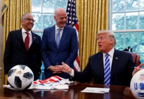 Donald Trump zoa Seleção Brasileira em encontro com presidente da Fifa
