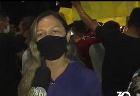 Viúva de motoboy morto em acidente participa de protesto e pede justiça