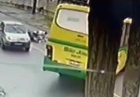 Acidente foi registrado por câmeras de segurança