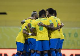 Brasil voltou para o segundo tempo pressionando no ataque.