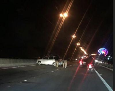 Acidente entre sete carros no viaduto do Cristo Redentor deixa feridos