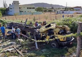 Acidente de caminhão mata motorista e deixa esposa ferida no interior da PB