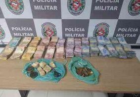 PM apreende drogas e mais de R$ 20 mil em dinheiro na Zona Sul de João Pessoa