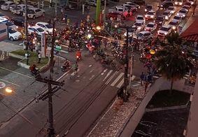 Motociclistas se reúnem em protesto por morte de Kelton Marques; veja