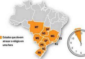 Termina neste domingo (17) horário de verão em 10 Estados do Brasil, além do DF