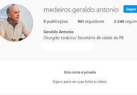 Secretário de Saúde da Paraíba denuncia perfil falso em rede social