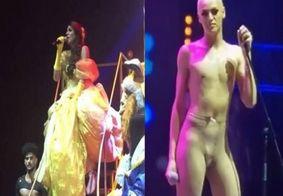 Vestida de princesa, Pabllo Vittar tira a roupa no palco
