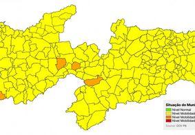 Novo Normal: PB tem 4 cidades em bandeira laranja e 219 em amarela