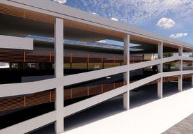 Projeto do edifício-garagem apresentado pela Semob