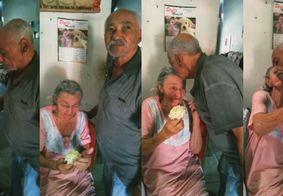 """""""Eternos namorados"""": conheça Izabel, paraibana com Alzheimer que não esqueceu o companheiro"""