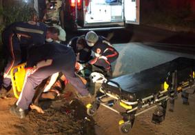 Motorista foge após atropelar e arremessar homem na Grande João Pessoa