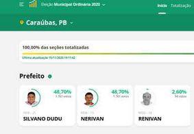 Candidatos empatam e disputa por prefeitura é definida por idade, na PB; confira