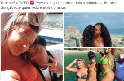 Perfil publica fotos e prints comprometedores e sugere que Ludmilla traiu namorada; veja