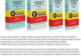 Por suspeita de contaminação, remédio para úlcera será retirado das prateleiras