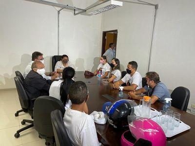 Reunião entre familiares do motoboy e a Polícia Civil