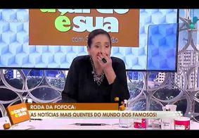 Sônia Abrão se emocionou ao falar da morte do amigo