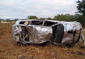 Local do acidente registrada na manhã deste sábado (17), no Cariri da PB