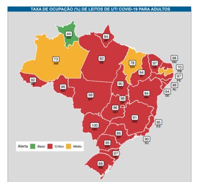 PB tem a 2ª menor taxa de ocupação de leitos de UTI do Brasil, diz Fiocruz