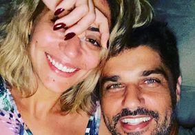 Carol Castro e o namorado Bruno Cabrerizo.