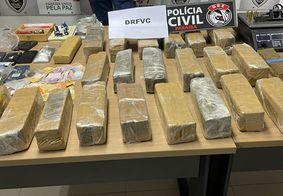 Polícia apreende mais de 40 kg de drogas em apartamento no Bessa