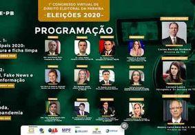 TRE-PB promove o I Congresso Virtual de Direito Eleitoral