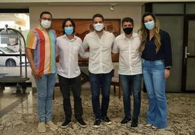 Rafafá, Pedro Cunha Lima, Eduardo Leite, Tovar Correia Lima e Camila Toscano.