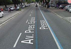 Faixa Exclusiva na avenida Epitácio Pessoa, em João Pessoa