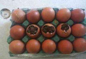 Adolescente é flagrada tentando entrar em presídio com drogas escondidas em ovos de galinha