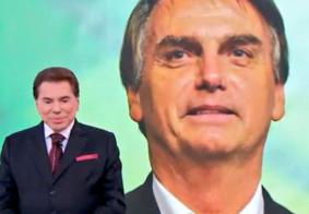 Vídeo: Por telefone, Bolsonaro participa do Teleton e recebe elogios de Silvio Santos
