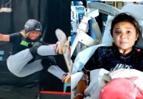 Vídeo: veja a queda assustadora que a medalhista olímpica de 13 anos sofreu
