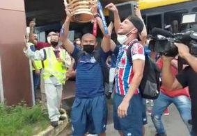 Desembarque do Bahia na Copa do Nordeste
