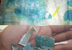Motorista compra todas as trufas de menino no sinal com nota falsa de R$ 100