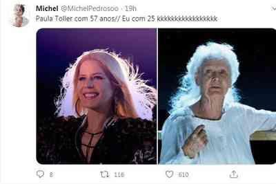 Aparência de Paula Toller em live choca fãs e vira meme no Twitter