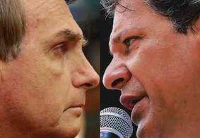 Pesquisa CNT/MDA: Bolsonaro tem 56,8%; Haddad tem 43,2%