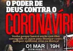Polícia investiga igreja evangélica que oferece unção que protege contra o coronavírus