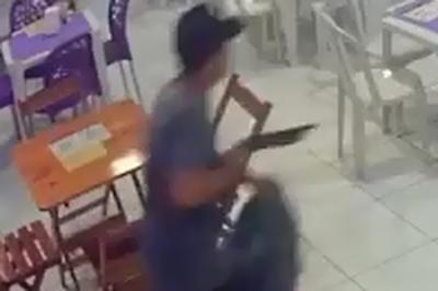 Vídeo: câmeras flagram tentativa de assalto em lanchonete em João Pessoa