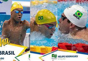 Gabriel Bandeira, Gabriel Araújo e Phelipe Rodrigues