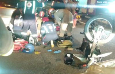Motociclista morre ao colidir com traseira de carro no viaduto Cristo Redentor, em João Pessoa