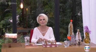 Ana Maria Braga limpa nariz com toalha e convidado usa a mesma para secar alimento