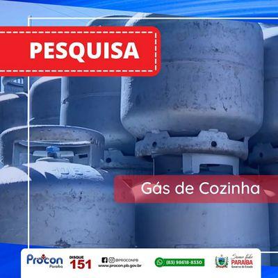 Menor preço do gás de cozinha é encontrado por R$ 82 em João Pessoa