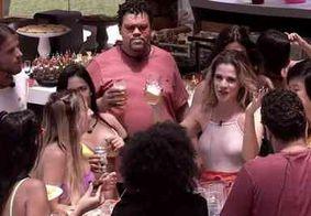 Após Thelma chorar de fome, Ingrid Guimarães visita BBB e comanda festa com comida à vontade