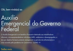 Capa do site oficial do Auxílio Emergencial
