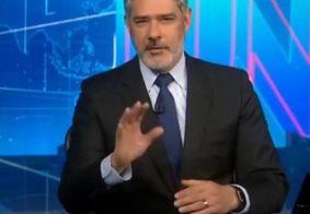 William Bonner se irrita e corta matéria ao vivo no Jornal Nacional