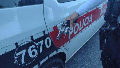 Arma utilizada no crime, segundo a polícia.