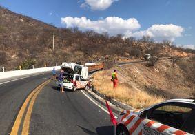 Acidente aconteceu na Serra de Santa Luzia