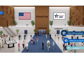 Feira virtual nos EUA