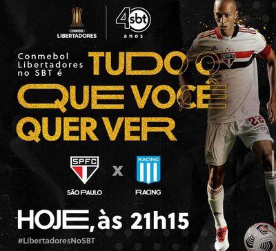 Racing x São Paulo, ao vivo pela Libertadores