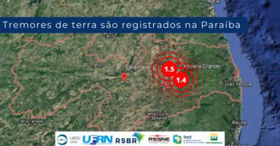 Tremores registrados em cidades paraibanas